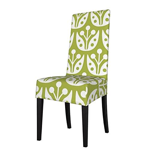 Funda de Asiento para Silla con diseño de Flores de Mediados de Siglo, Fundas para sillas de Comedor, Fundas elásticas, Protector de Silla Lavable