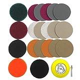 YLLN 21 unids/Set 3 Pulgadas Kit de Luces de Coche DIY Kit de paño de Limpieza para Pulido automotriz Kit de reparación de Faros Papel de Lija