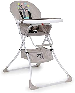rosa Zusammenklappbar KINDEREO Baby Kinder Hochstuhl 3in1 mit Sicherheitsgurt und Gro/ßem Esstisch mit Fu/ßst/ütze mitwachsend