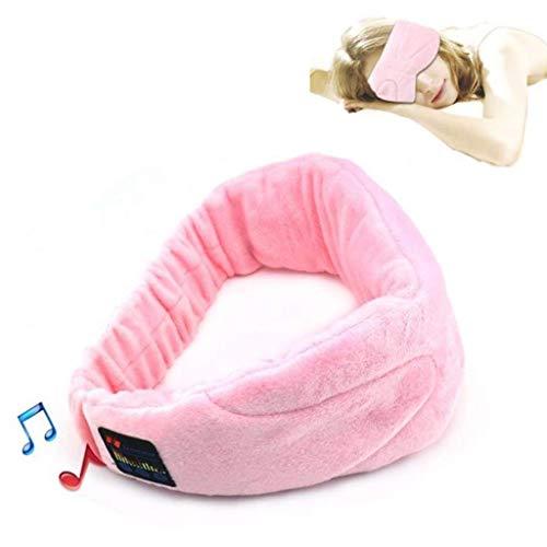 Preisvergleich Produktbild HUO FEI NIAO Schlaf Augenmaske,  drahtlose Bluetooth-Musik 4.0 Headset,  eingebauter Lautsprecher Mikrofon Abschattungsmaske,  Männer und Frauen Reisen zum Entspannen (Farbe : Pink)