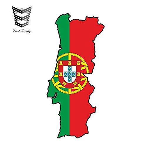 N/X YDBDB 13cm x 6.5cm Auto Styling PORTUGAL Portugese Sticker MAP FLAG SILHOUETTE BUMPER VINYL DECAL Pegatina BIKE Auto Sticker