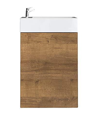 WC Badmöbel Angela 40x22 cm F. Oak - Schrank Waschbecken Badezimmer Toilette