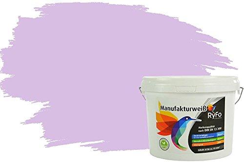 RyFo Colors Bunte Wandfarbe Manufakturweiß Rosenholz 3l - weitere Rot Farbtöne und Größen erhältlich, Deckkraft Klasse 1, Nassabrieb Klasse 1