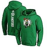 VBSD Celtics Langford 45# Baloncesto Sudadera con Capucha Sudadera 2021 Nuevo para Hombres, Baloncesto de Manga Larga Casual Deportes Capacitación Jersey Soopled Pullove Green-M