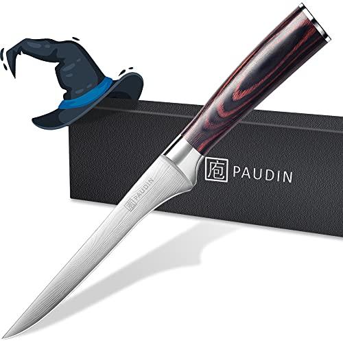 PAUDIN 15cm Filetiermesser Küchenmesser aus hochwertigem Edelstahl, Professional Kochmesser mit Scharfer Klinge