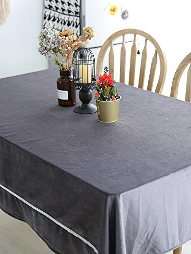 Creek Ywh tafelkleden voor terrasplanken, tafelkleden voor feestjes, velours, grijs, minimalistisch, modern, woonkamer