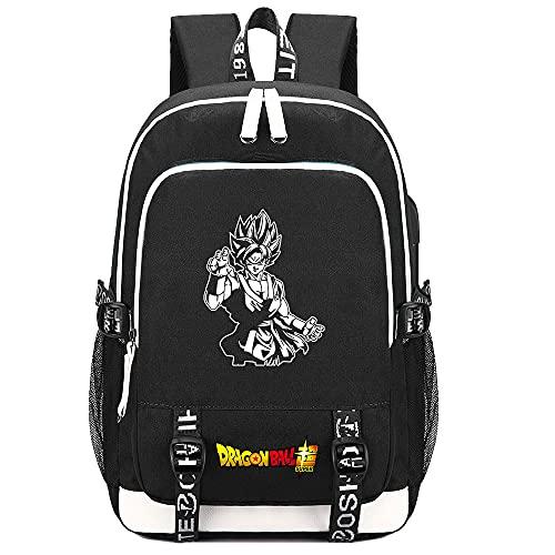 School Bags for Boys Girls Teenage Teens,Anime Cosplay Dragon Ball canvas backpack with usb charging