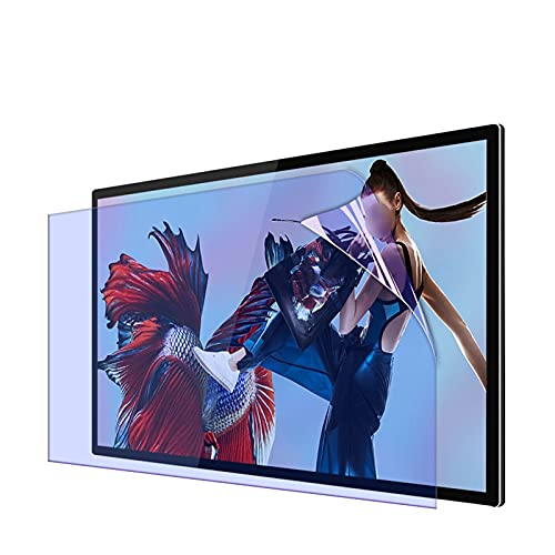 AWSAD Protector Pantalla TV, 27-75 Pulgadas Filtro de Pantalla Ultra Claro, Antirreflejos Aliviar La Fatiga Ocular Anti-rasguños (Color : A, Size : 50 Inches 1101X620mm)