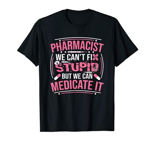Lustiger Apotheker Spruch Apothekerin Pharmazie T-Shirt