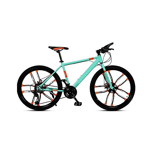 ZLDAN MTB Double Gear Wheel integrally Men Bicycle disc (Color : Green)