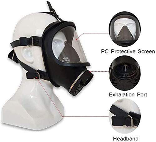 PPWYY Mask Full Face Head Ventilative Biochemical Gas Mask Widely Used in Organic Gas,Paint Spary Chemical,Woodworking,Dust Protectio