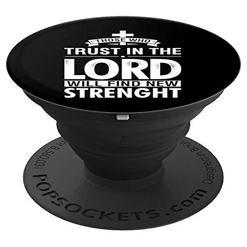 Los que confían en el Señor encuentran fuerza PopSockets Agarre y Soporte para Teléfonos y Tabletas