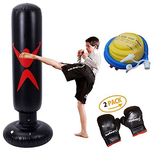K-Y Inversionsbank Freistehender Boxsack - Zielstand Boxsäcke/Excellent Dummy for Boxing/Kickboxen/Mixed Martial Arts/MMA Trainingsgeräte