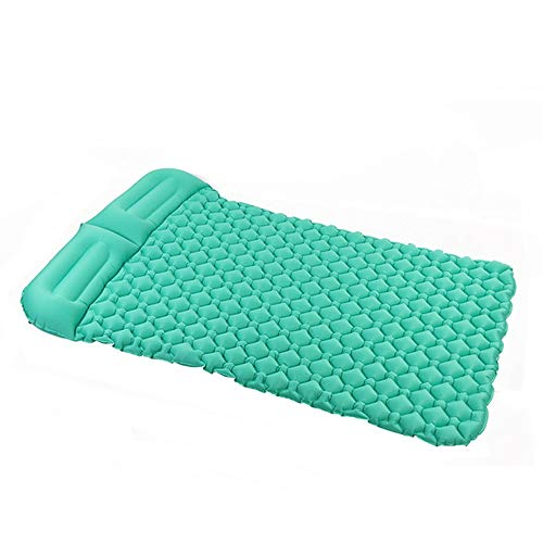 ZDAMN Air Mattress Inflatable Sleeping Mat By Camping Mattress Inflatable Mat Compact And Moistureproof For Hiking Backpacking Hammock Tent Inflatable Bed (Color : Green, Size : 195X136CM)
