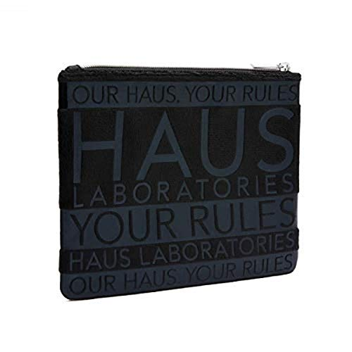 HAUS LABORATORIES By Lady Gaga: LAB BAG, Travel Makeup Bag | Multifunctional, Black Makeup Case With Zipper Closure For Cosmetic Organization, Vegan & Cruelty-Free | 1-Piece