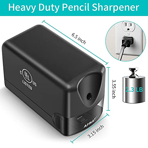 Electric Pencil Sharpener Heavy Duty, AFMAT Pencil Sharpener Electric for Classroom, UL Listed Plug in Pencil Sharpener for 6.5-8mm No.2/Colored Pencils, w/Upgraded Helical Blade(Sharpen 10000 Times) Photo #3