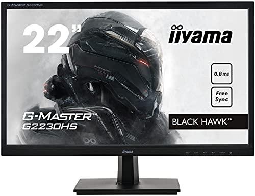 Ecran iiyama 22'' G-MASTER G2230HS-B1, TN, FHD@75Hz, VGA/HDMI/DP Freesync, flicker free, blue light, speakers