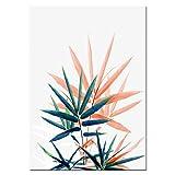 JXMK Hoja Tropical Palma Girasol Lienzo Arte Pintura Hoja Verde Pared Arte Pared salón Cartel Arte 30x40 cm sin Marco