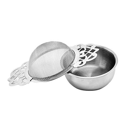 Jinghengrong Flower Edge Teapot Tea Infuser Stainless Steel Loose Coffee Leaf Tea Strainer Reusable Mesh Infuser