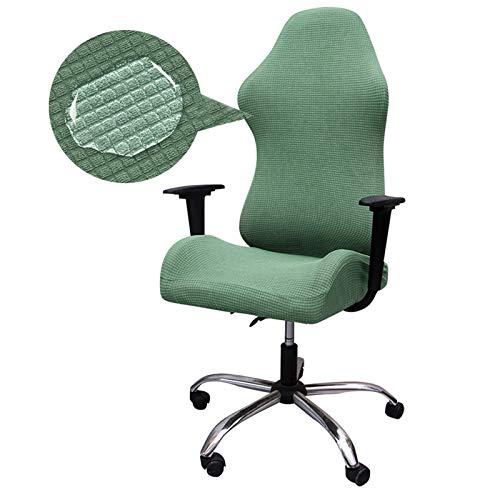 TOPLDSM Fundas para sillas para Juegos, Fundas para sillas de computadora de Oficina, Protector de sillones de Elastano elástico para sillas de Carreras, Solo Fundas para sillas,Light Green