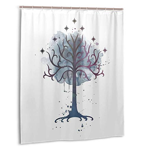 weiyibaobei Lord Rings Shower Curtain Bath Fashion Waterproof Polyester Fabric 60 x 72 Inch with 12 Hooks for Bathroom