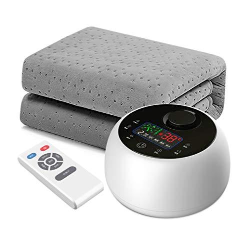 SJTCP Waterverwarmde deken, waterverwarmde onderdeken met draadloze afstandsbediening, stille machine met 5 versnellingen en timer-instelling, auto uit