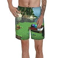マインクラフト ビーチパンツ 短パン スポーツ 短パン ビーチパンツ 通気速乾 ショーツ メンズ 海水パンツ サーフパンツ