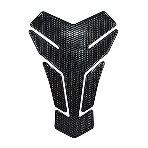 JINYAN am-PM Tapis de Moto Tank Sticker Sticker Gaz Protecteur de Carburant Decal Fit pour Suzuki Victory Yamaha CBR650F CB1300 YFZ Bandit 600 650 (Color : Black)