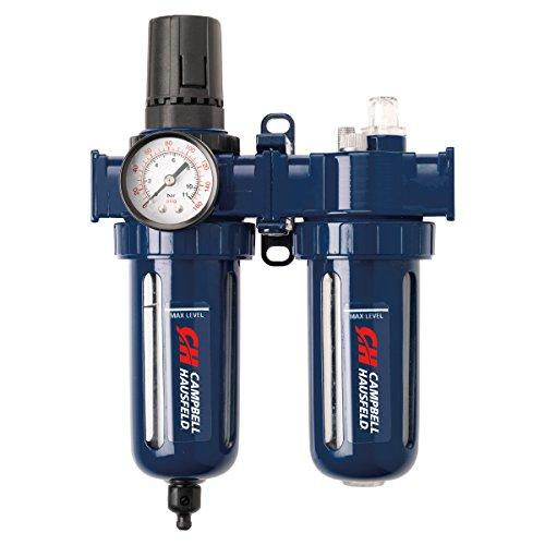 Filter Regulator and Lubricator – 3 in 1 FRL Unit - 3/8' NPT – 150 PSI (Campbell Hausfeld PA207803AV)