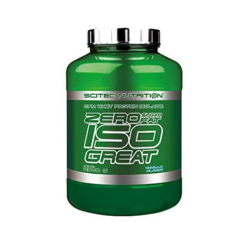 Scitec Nutrition Zero Isogreat, zero sugar/zero fat, aislado de proteína de suero, 2.3 kg, Vainilla