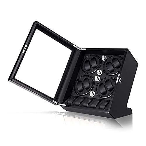 LLSS Relojes y Joyas Caja enrolladora automática de Relojes 8 + 5, Exterior de Pintura de Piano de Concha de Madera, Gran Capacidad, Motor silencioso, Ajuste para Relojes de s