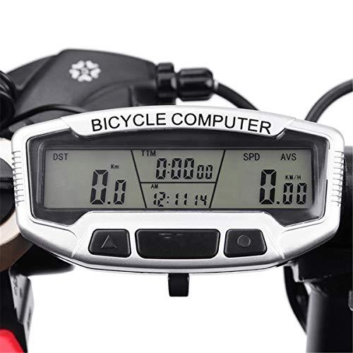 MXBIN Sunding Wireless Waterproof LCD Bicicleta Bicicleta Ciclismo Computadora Cuentakilómetros Velocímetro Luz...
