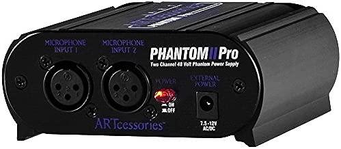 ART Phantom II Pro 2-Channel 48V Phantom Power Supply