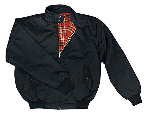 Knightsbridge Harrington Jacket veste automne veste scooter veste veste de bombardier beaucoup de couleurs pour hommes taille XS-3XL (XL, Noir)