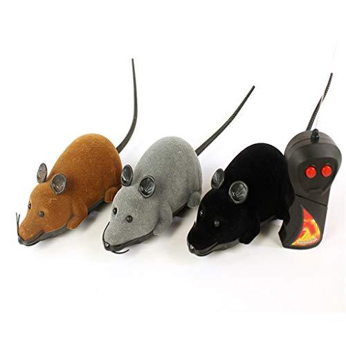 YFAX, Juguete de Mascotas de Movimiento electrónico, Juguetes de Peluche de Peluche Interactivo, Control Remoto inalámbrico Mock Juguete, Juguete de simulación para Gato Perro niño-Gray