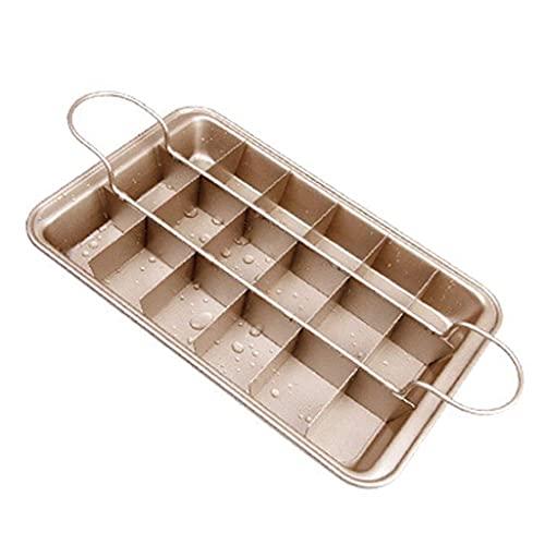 JJINPIXIU Molde para Tartas Plato para Brownie Plato para Brownie Antiadherente con Divisor Bandeja para Hornear de Acero al Carbono para Horno Molde para Hornear Herramienta para Hornear, Molde para