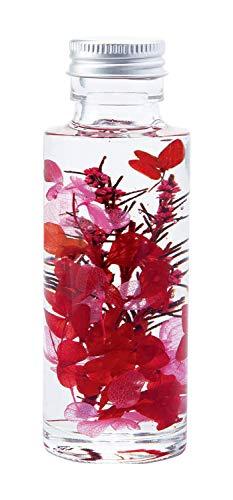 コモライフ 癒しのハーバリウム 花 ボトル ルビーレッド インテリア ドライフラワー プレゼント 女性 おしゃれ