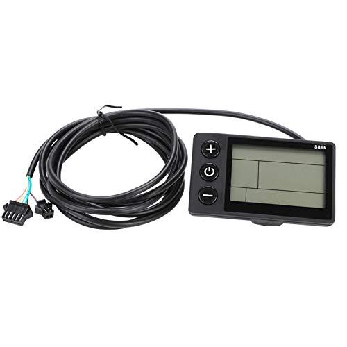 Pwshymi Controlador de Motor Panel de Pantalla LCD Impermeable Kit de Controlador sin escobillas para Bicicleta eléctrica Scooter de Bicicleta eléctrica(36V/48V 350W)