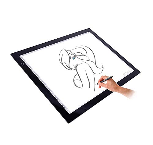 Kacsoo A2 Tracing Light Box, Smart Touch LED de tres Velocid