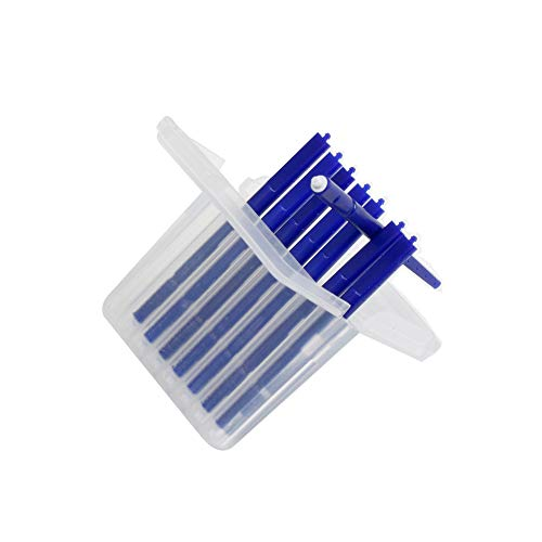 Hearing aid Wax Guard Filter Ear Wax Cleaning Tool for phonak, widex and Resound Wax Traps Hear Clear Cleaning kit Accessory (80 Filters) (Blue 10 Pack)