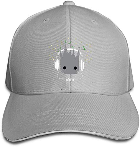Rjsgdfjhs I Am Groot Cute Baby Groot Classic Baseball Cap, Adjustable Fits Men Women Plain Low Profile Black Hat