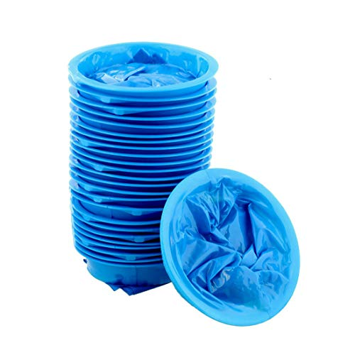 Zcoins - Confezione da 25 sacchetti sanitari usa e getta per vomito, 1000 ml, per viaggi o emergenze ospedaliere o mal d'aria, con boccaglio