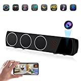 Hidden Spy Camera in Bluetooth Speaker,Wireless WiFi Full HD1080P Security Nanny Cam with Stronger Night Vision,Motion Detection,160Wide Angle Fisheye Lens for Home Office Store.