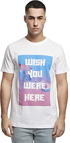 Mister Tee Mens Wish You were here Tee T-Shirt, White, XL