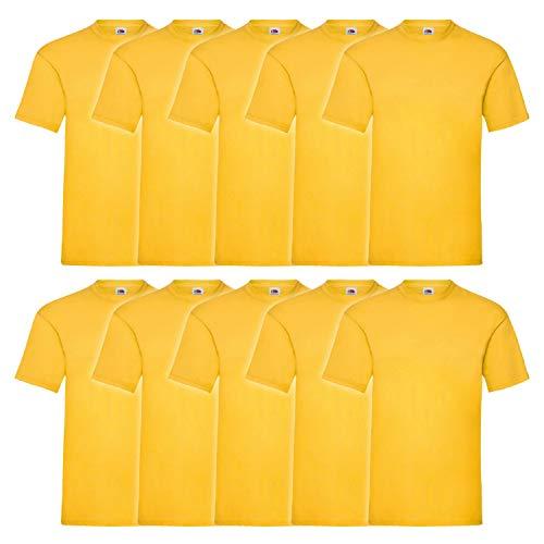 Fruit of the Loom Fruit of the Loom 5er Pack T-Shirts, gelb, Größe L