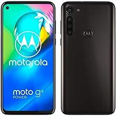 """Motorola Moto G8 Power (Pantalla de 6,4"""" FHD+ o-notch, procesador Qualcomm Snapdragon SD665, cámara principal de 16MP, cámara macro de 2MP, batería de 5000 mAH, Dual SIM, 4/64GB, Android 10), Negro"""
