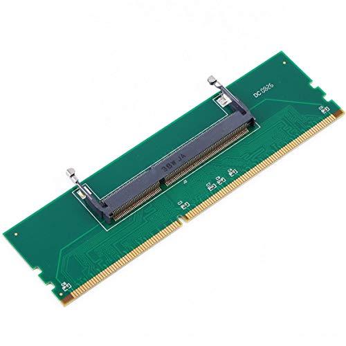 JohnJohnsen Laptop DDR3 Profesional SO-DIMM a DIMM de Escritorio Memoria RAM Conector Adaptador de Escritorio Tarjeta Probador de Memoria Verde (Verde)