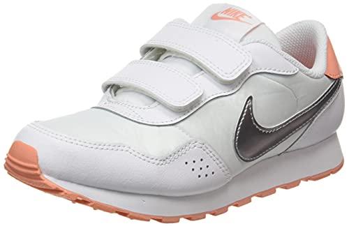 Nike MD Valiant BPV, Scarpe da Ginnastica, White/Mtlc Silver-Crimson Bliss, 28 EU