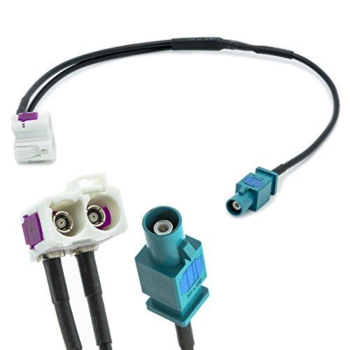 Adapter Universe FAKRA Doppel Buchse (Z) auf Einzel Stecker Auto Antennen Verteiler Adapter für Universal