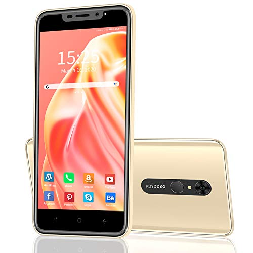 Moviles Libres 4G, AOYODKG A9+ Smartphone Libre Android 9.0 Cámara 8MP+5MP 5.5 Pantalla, RAM 1GB ROM 16GB SD 128GB Batería 4800mAh Teléfono Móvil Libre Face ID[Clase de eficiencia energética A+++]